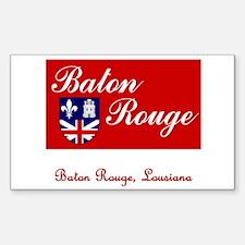 Baton Rouge LA Flag Rectangle Decal