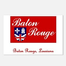 Baton Rouge LA Flag Postcards (Package of 8)