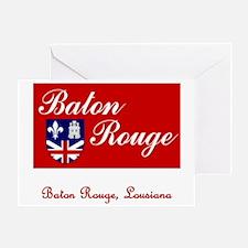 Baton Rouge LA Flag Greeting Card