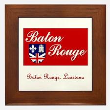 Baton Rouge LA Flag Framed Tile