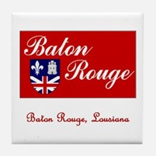 Baton Rouge LA Flag Tile Coaster