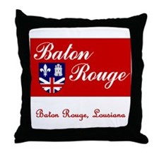 Baton Rouge LA Flag Throw Pillow