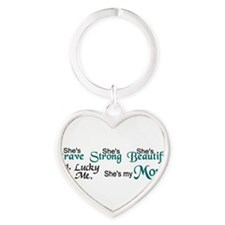 Cute Unique cancer Heart Keychain
