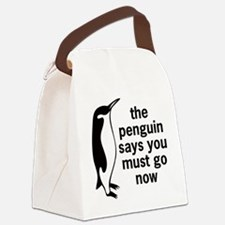 The Penguin Says Canvas Lunch Bag