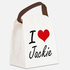 I Love Jackie Canvas Lunch Bag