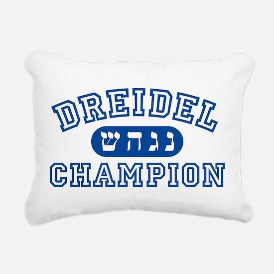 Dreidel Champion Rectangular Canvas Pillow
