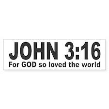 John 3:16 Bumper Bumper Sticker