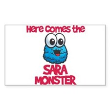 Sara Monster Rectangle Decal
