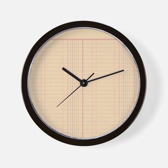 Ledger Paper Wall Clock