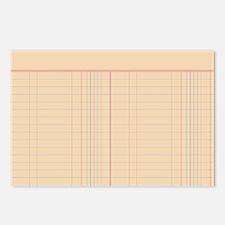 Ledger Paper Postcards (Package of 8)
