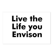 Live the Life you Envison Postcards (Package of 8)