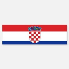 Croatia Flag Bumper Bumper Bumper Sticker