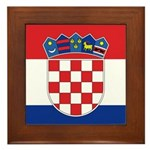 Croatia Flag Framed Tile