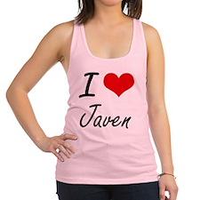 I Love Javen Racerback Tank Top