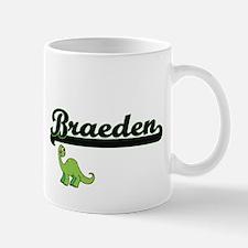 Braeden Classic Name Design with Dinosaur Mugs
