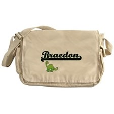 Braedon Classic Name Design with Din Messenger Bag