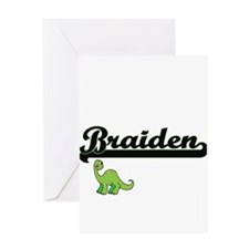 Braiden Classic Name Design with Di Greeting Cards