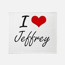 I Love Jeffrey Throw Blanket