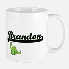 Brandon Classic Name Design with Dinosaur Mugs