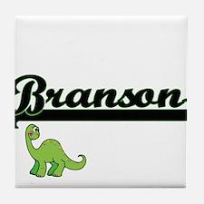 Branson Classic Name Design with Dino Tile Coaster