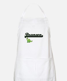 Branson Classic Name Design with Dinosaur Apron