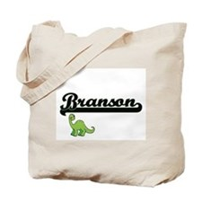 Branson Classic Name Design with Dinosaur Tote Bag