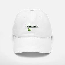 Branson Classic Name Design with Dinosaur Baseball Baseball Cap