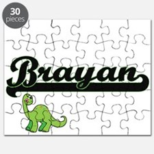Brayan Classic Name Design with Dinosaur Puzzle