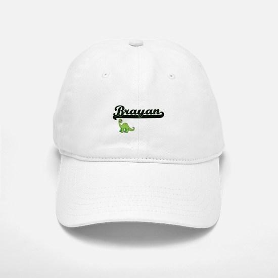 Brayan Classic Name Design with Dinosaur Baseball Baseball Cap