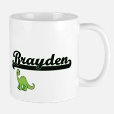 Brayden Classic Name Design with Dinosaur Mugs