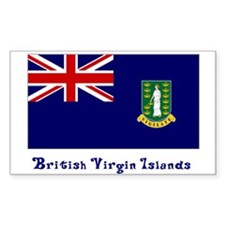 British Virgin Islands Flag Rectangle Decal