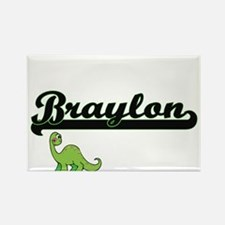 Braylon Classic Name Design with Dinosaur Magnets