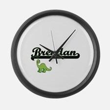 Brendan Classic Name Design with Large Wall Clock