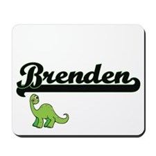Brenden Classic Name Design with Dinosau Mousepad