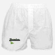 Brendon Classic Name Design with Dino Boxer Shorts