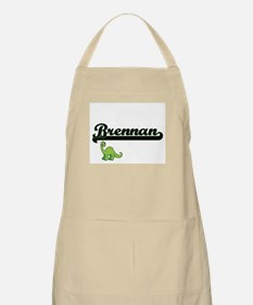Brennan Classic Name Design with Dinosaur Apron