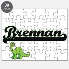 Brennan Classic Name Design with Dinosaur Puzzle