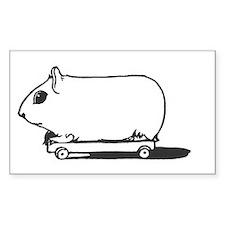 Skaing guinea pig Decal