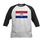 Croatia Flag Kids Baseball Jersey