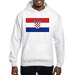 Croatia Flag Hooded Sweatshirt