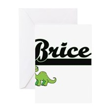 Brice Classic Name Design with Dino Greeting Cards