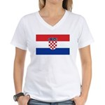 Croatia Flag Women's V-Neck T-Shirt