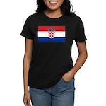 Croatia Flag Women's Dark T-Shirt
