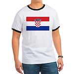Croatia Flag Ringer T