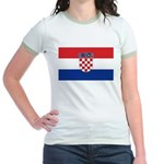 Croatia Flag Jr. Ringer T-Shirt
