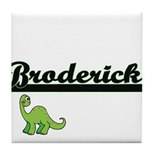 Broderick Classic Name Design with Di Tile Coaster