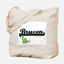 Brycen Classic Name Design with Dinosaur Tote Bag