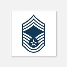 "Unique Usaf chief master sergeant Square Sticker 3"" x 3"""