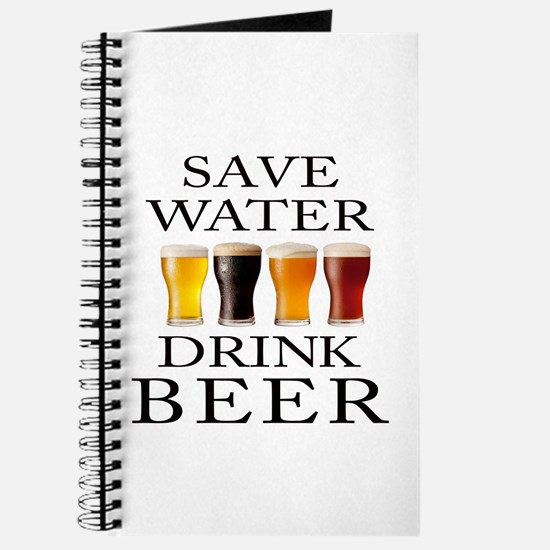 Save Water Drink Beer Journal