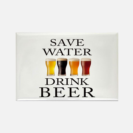 Save Water Drink Beer Magnets